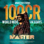 Master Crosses 100 Crores Gross Worldwide